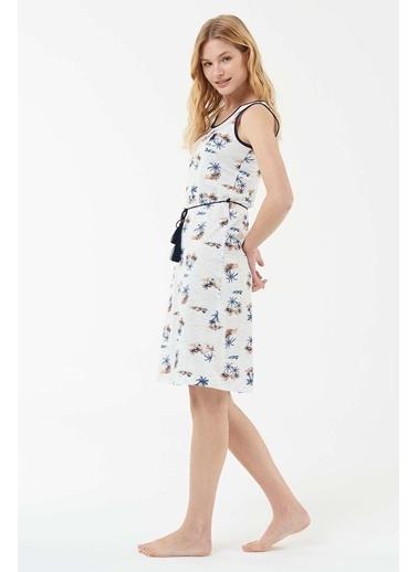 U.S. Polo Assn. Kadın Elbise Ekru